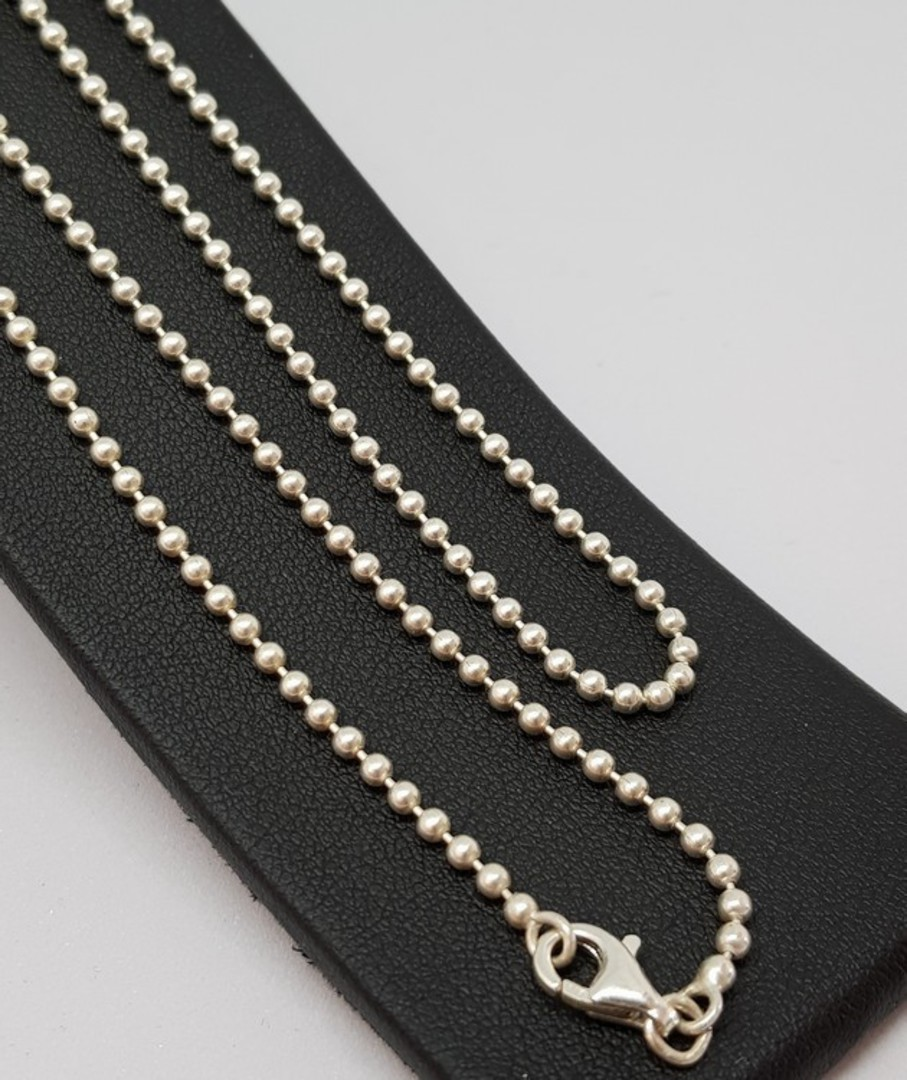 Sterling silver poppet ball chain 70cms long image 0