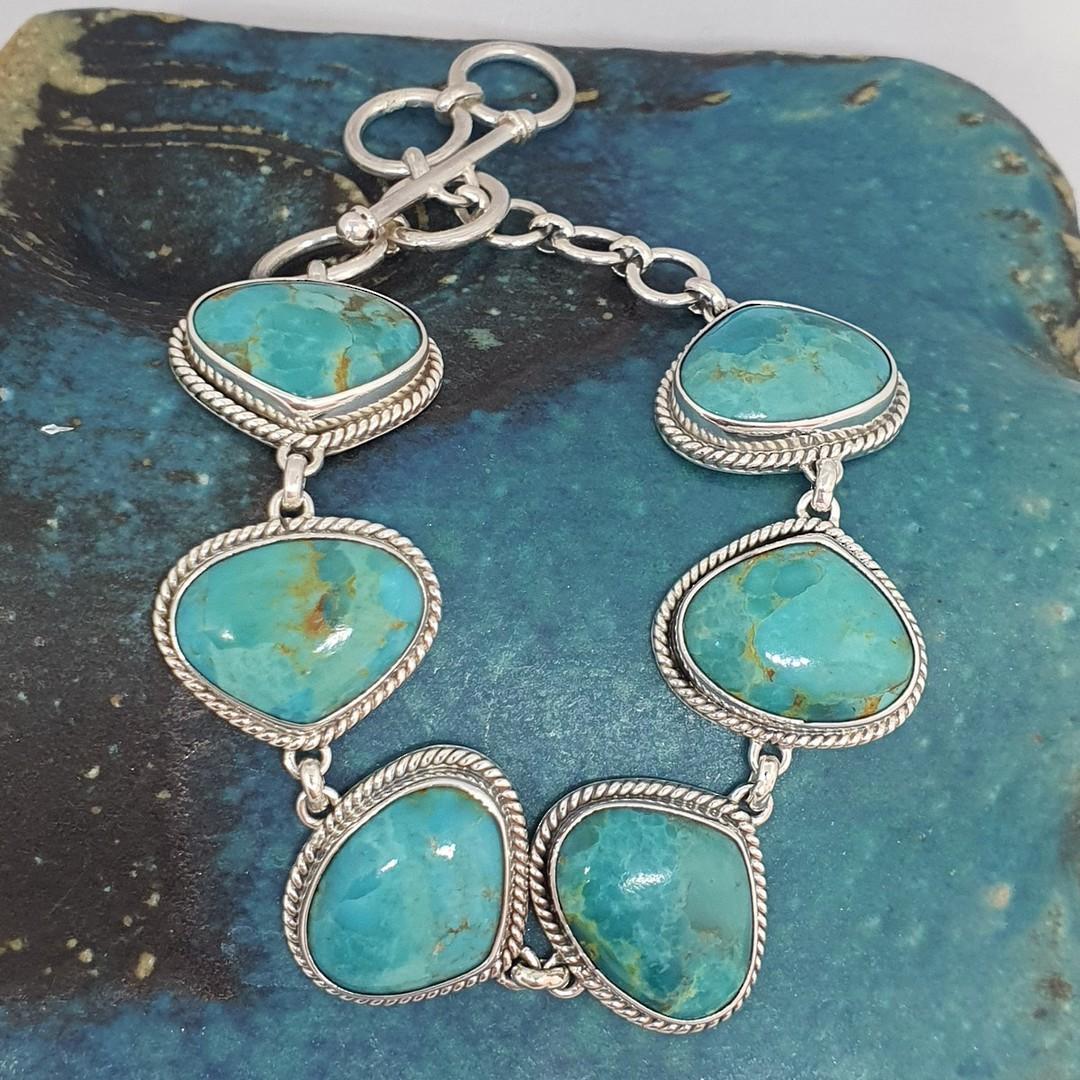 Sterling silver turquoise bracelet image 0