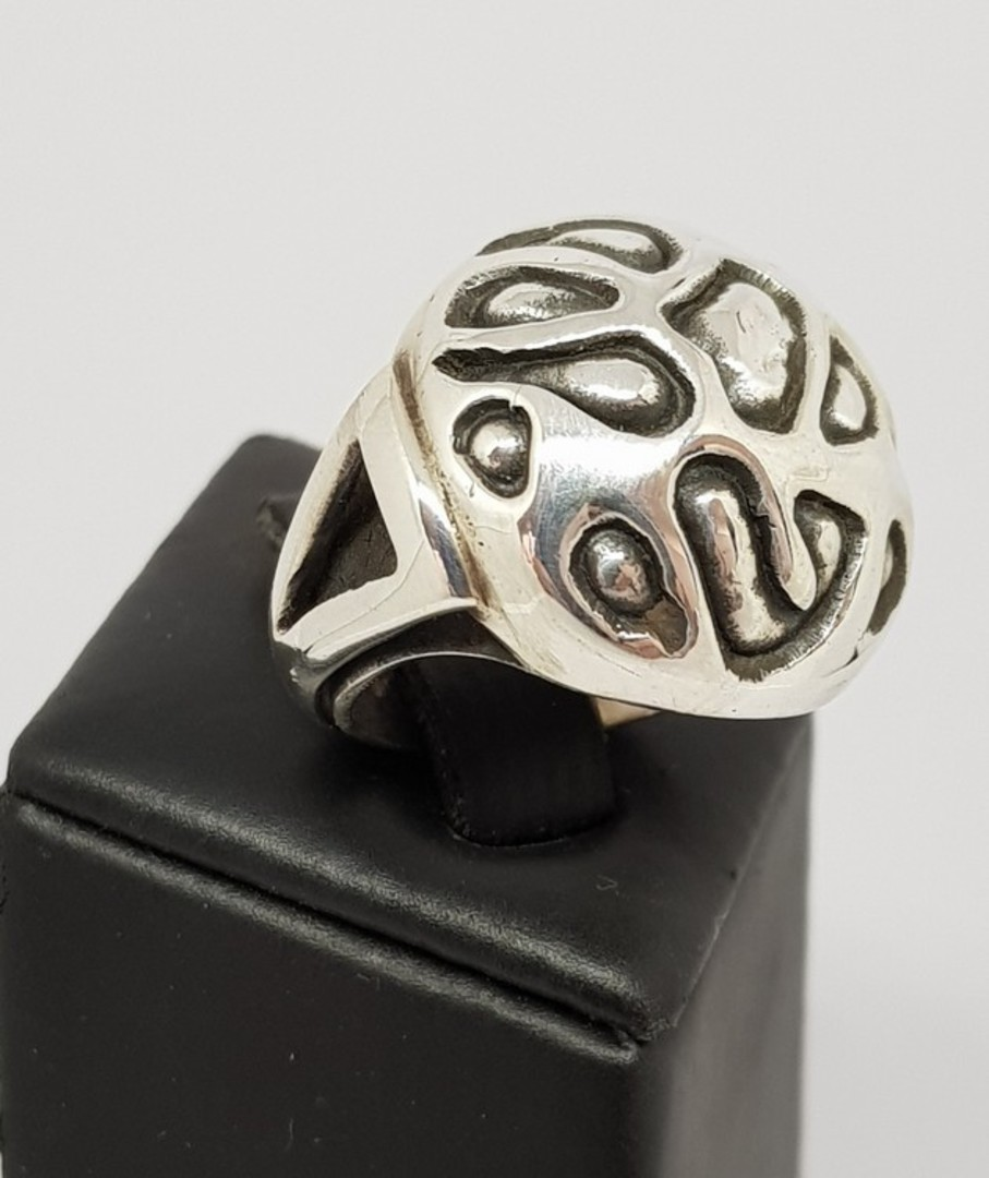 Chunky silver dress ring image 0