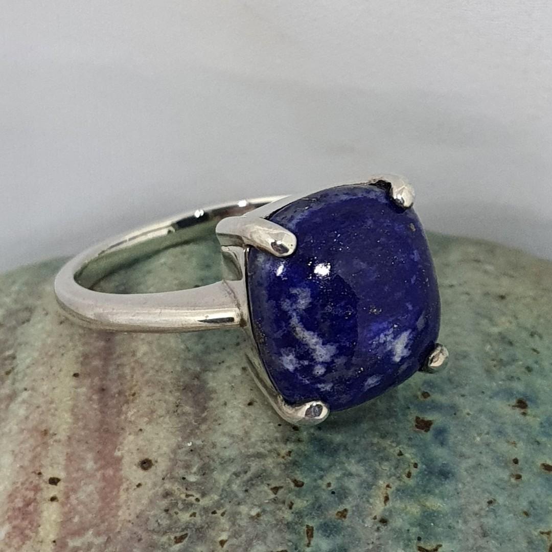 Sterling silver lapis lazuli dress ring image 1
