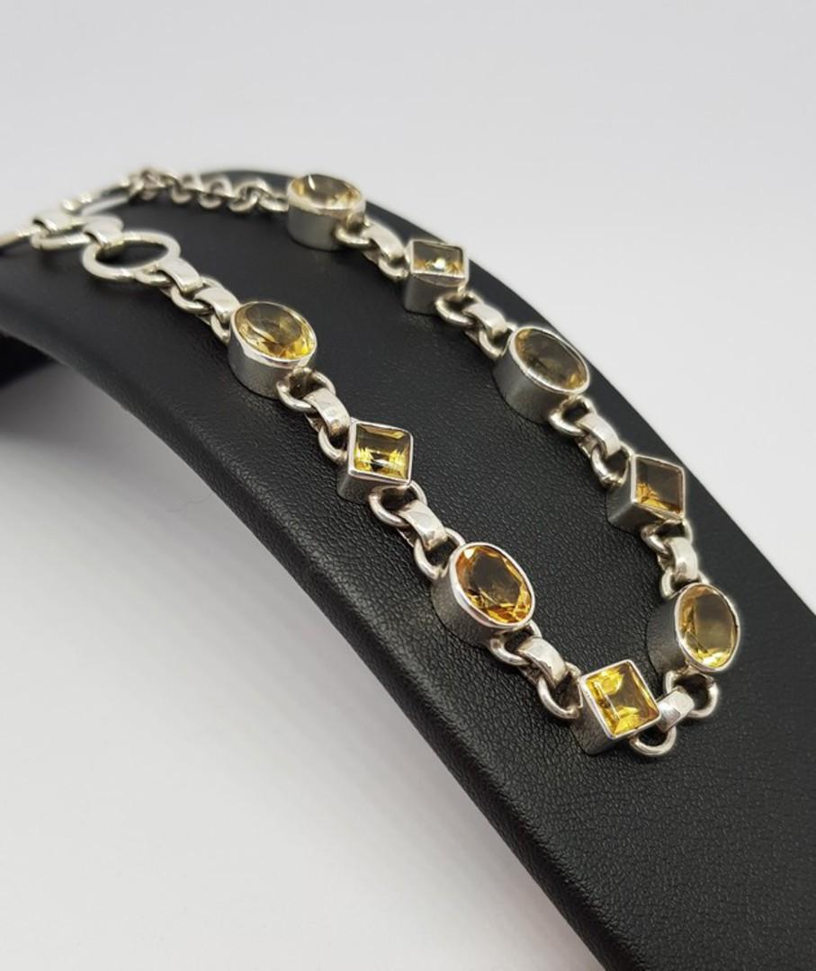 Sterling silver citrine gemstone bracelet image 3