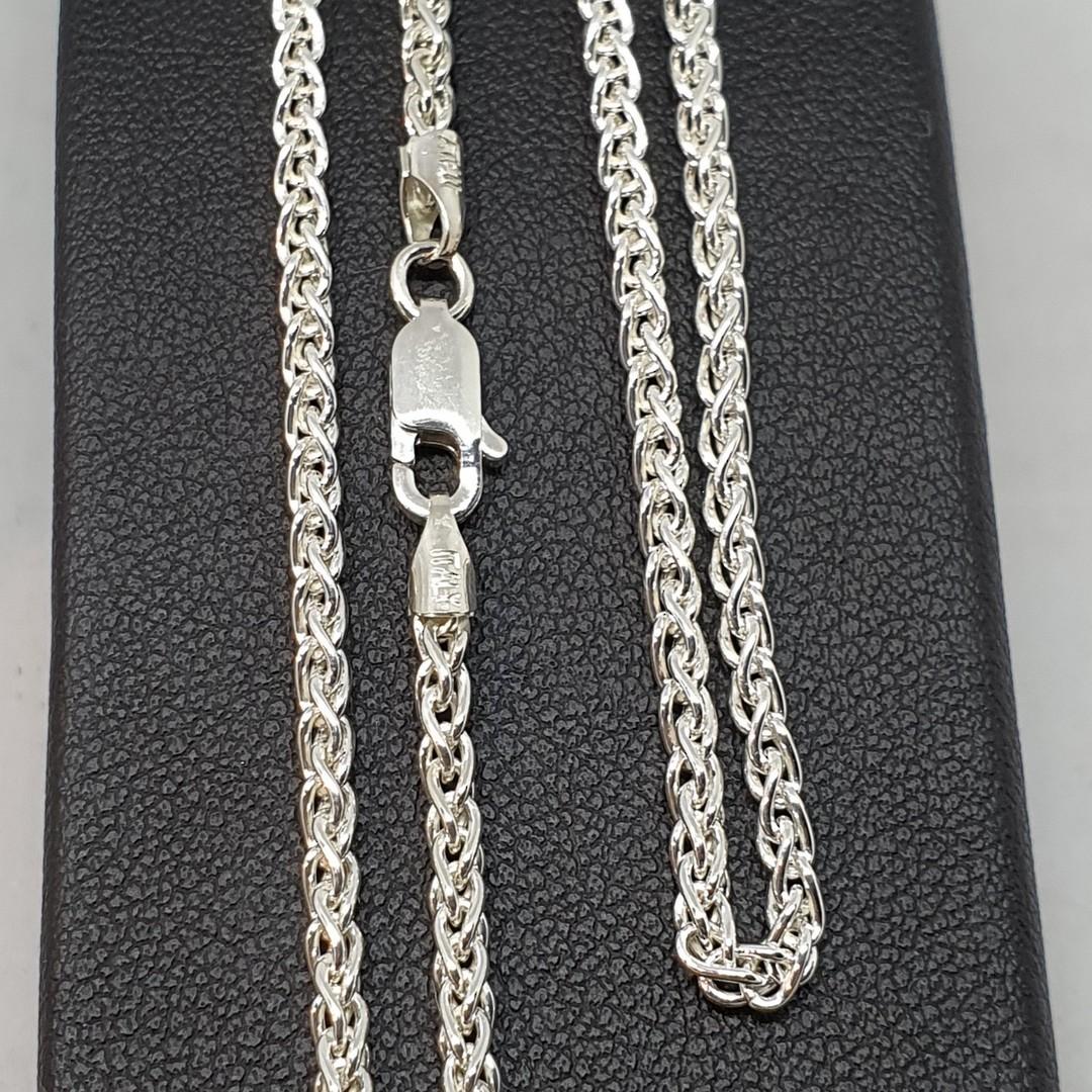 Fabulous long length sterling silver wheat chain, 70cms long image 2