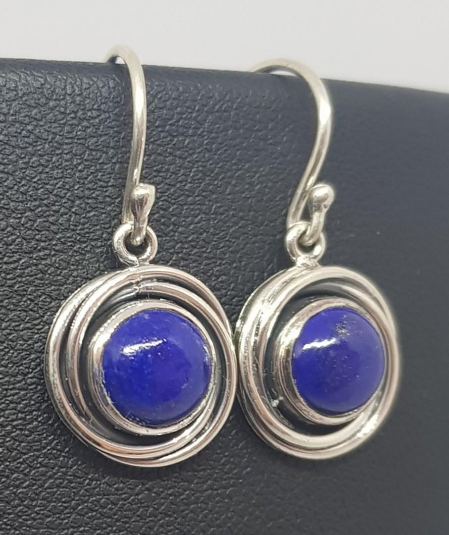 Lapis lazuli sterling silver earrings image 2