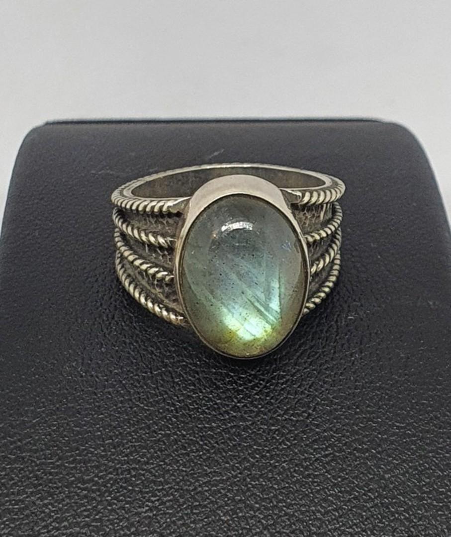 Super cute labradorite sterling silver ring image 2