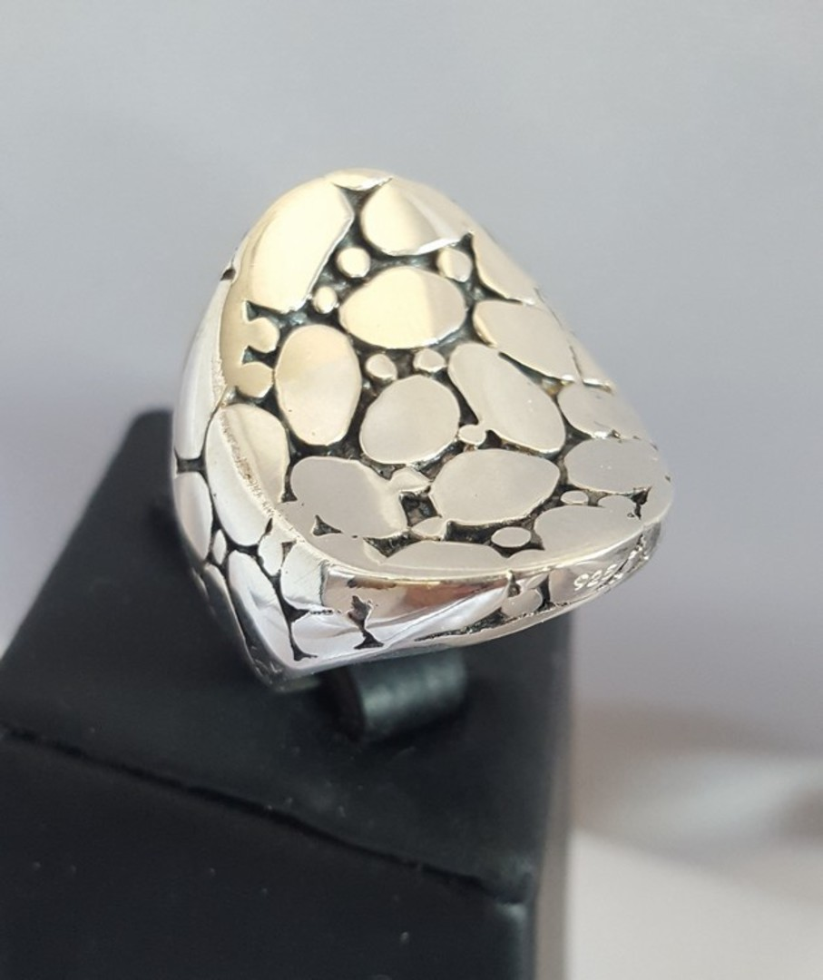 Awesome crazy paving sterling silver statement ring image 0