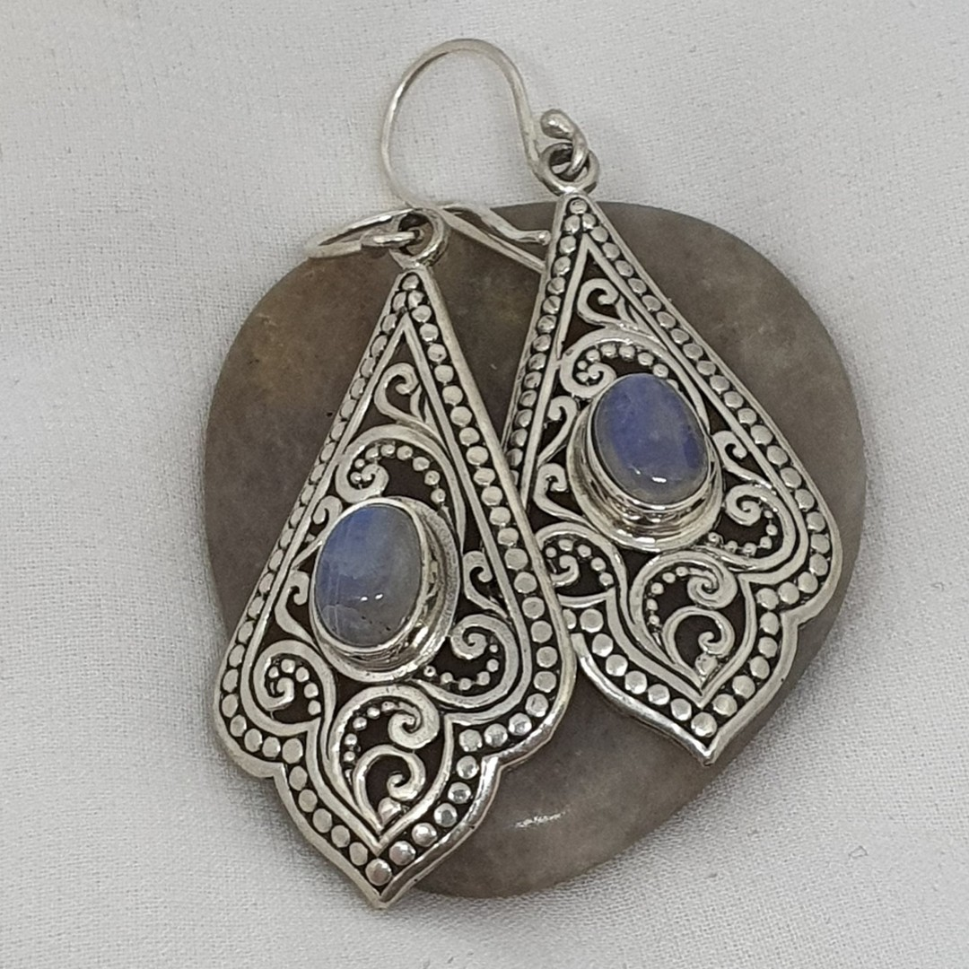 Moonstone earrings image 2