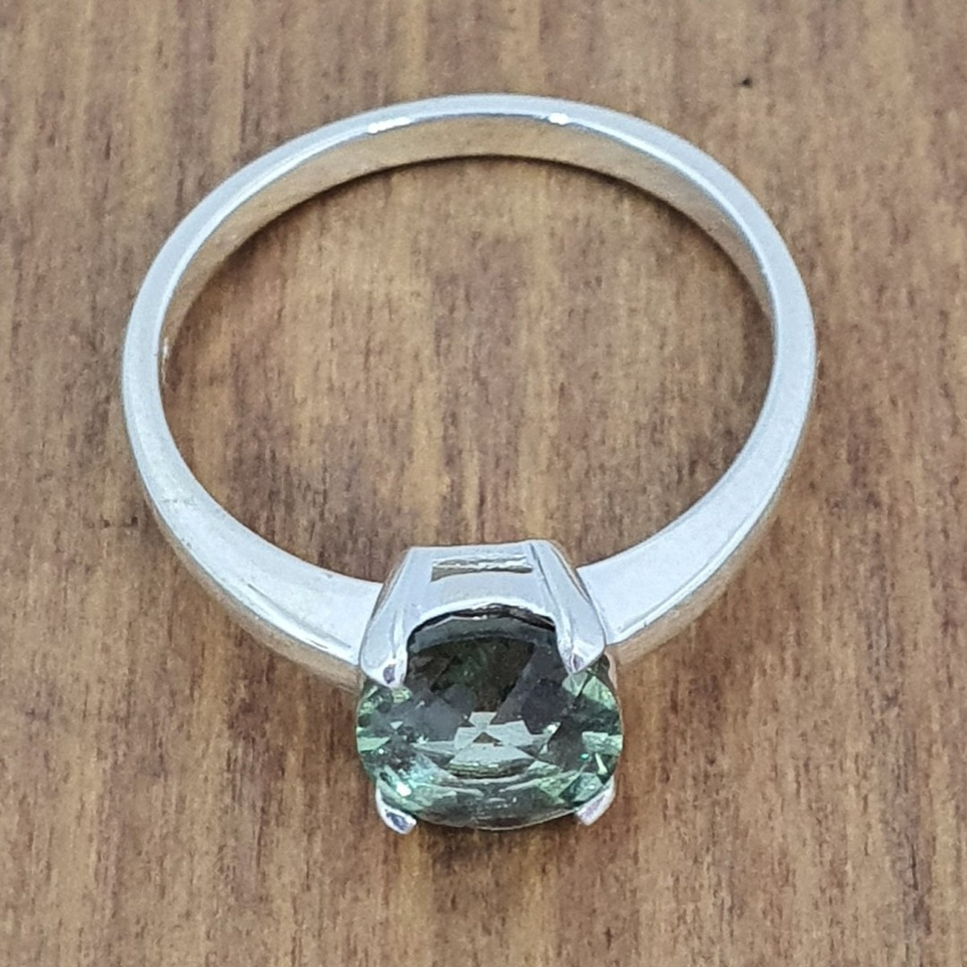 Sterling silver green fluorite ring image 2
