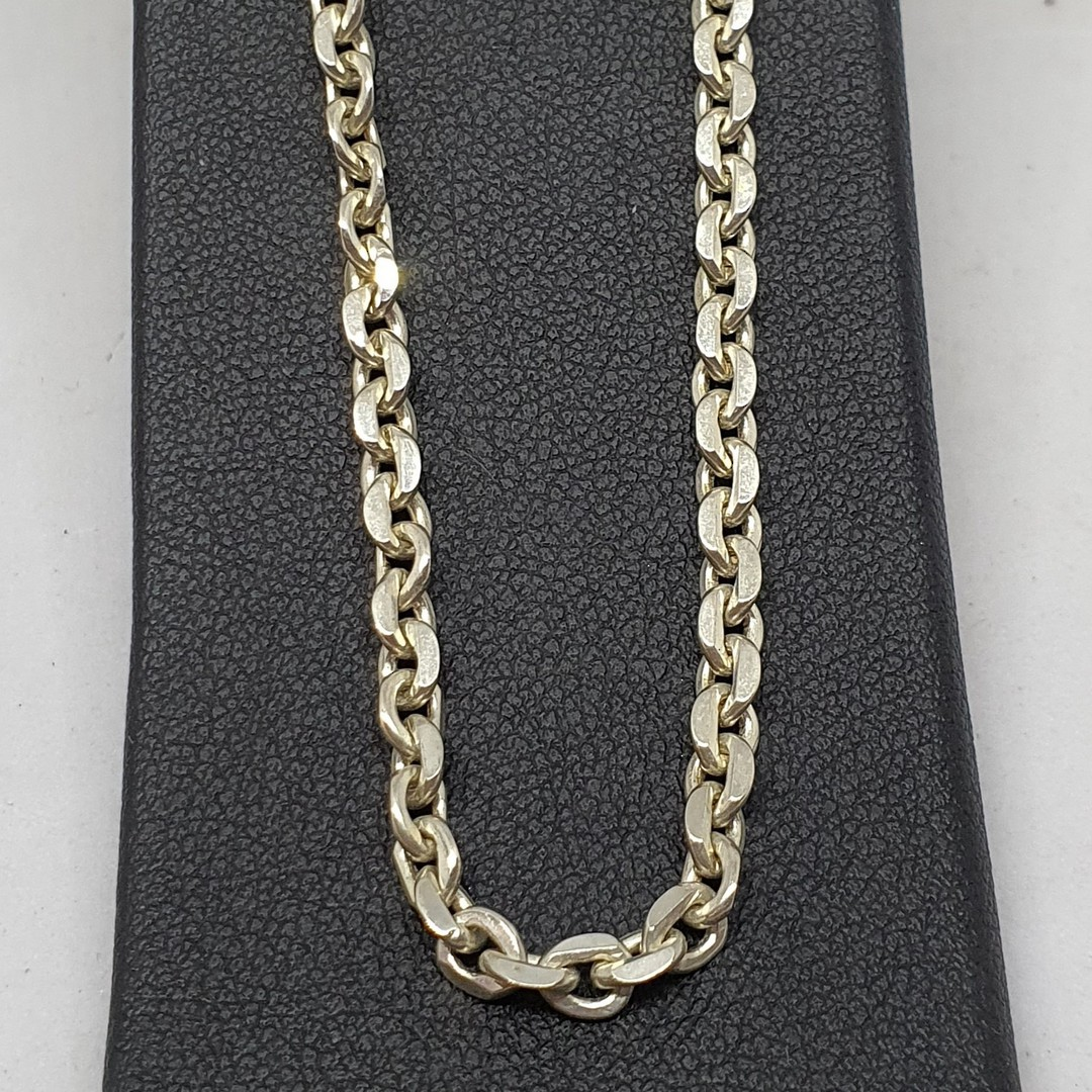 Sterling silver chain, 60cms long image 1