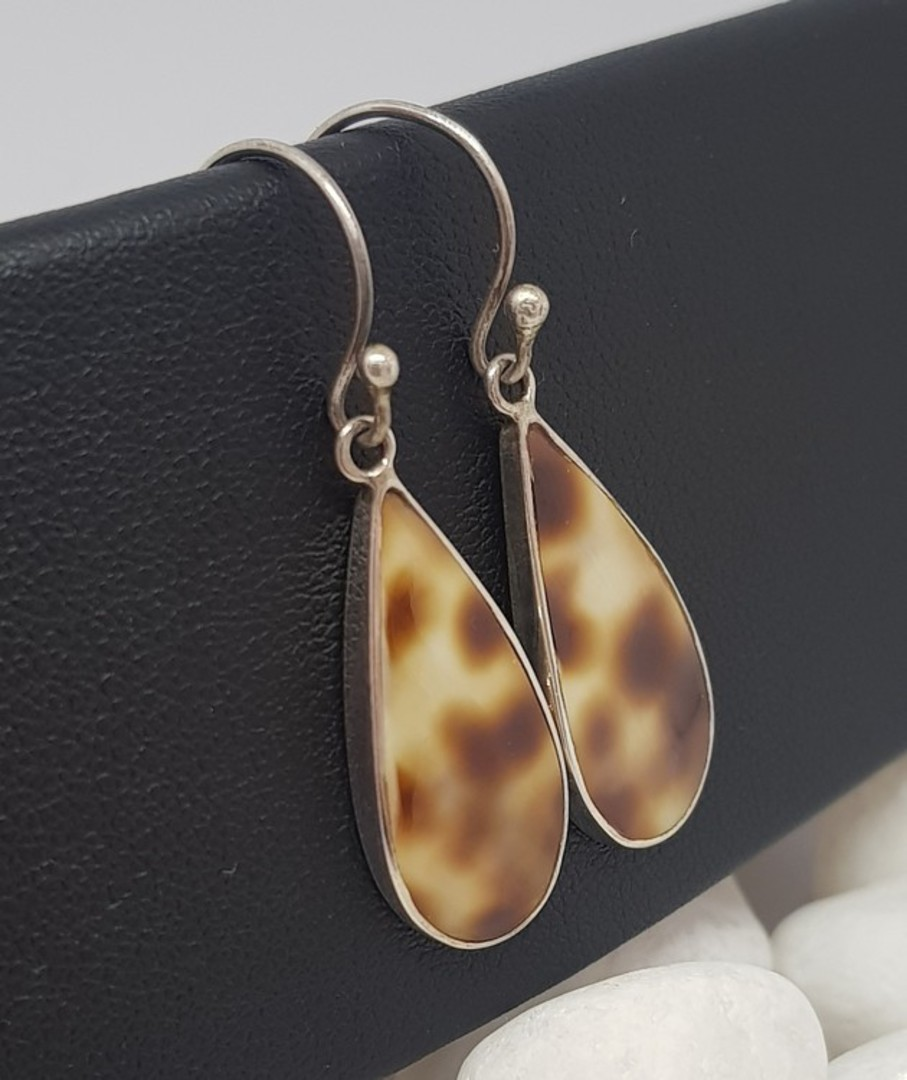 Sterling Silver Cowrie Shell Earrings image 2