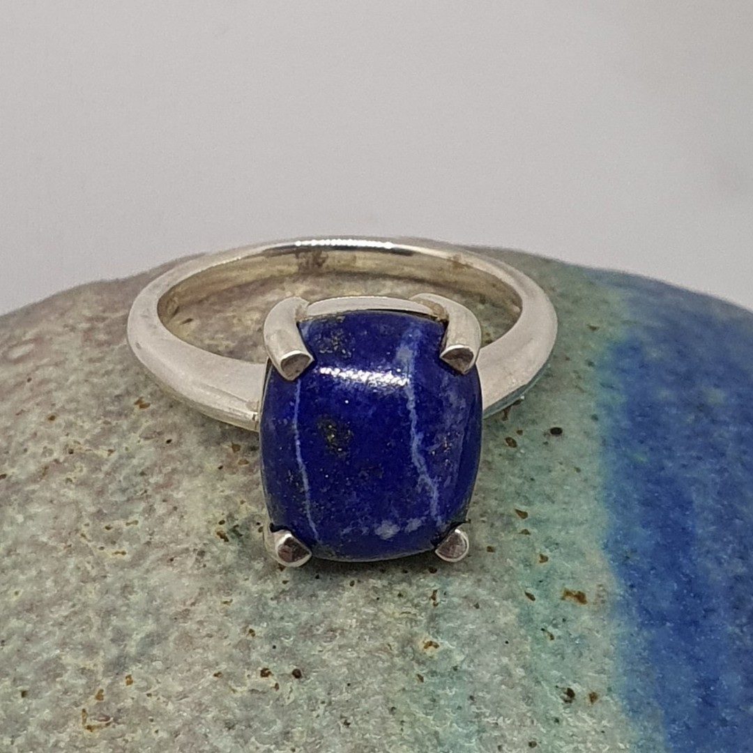 Sterling silver lapis lazuli dress ring image 2