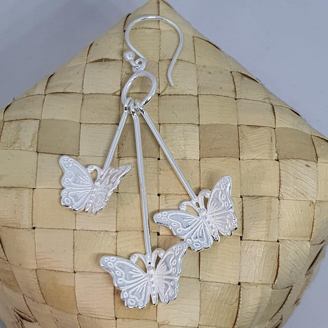 Sterling silver butterfly earrings image 3