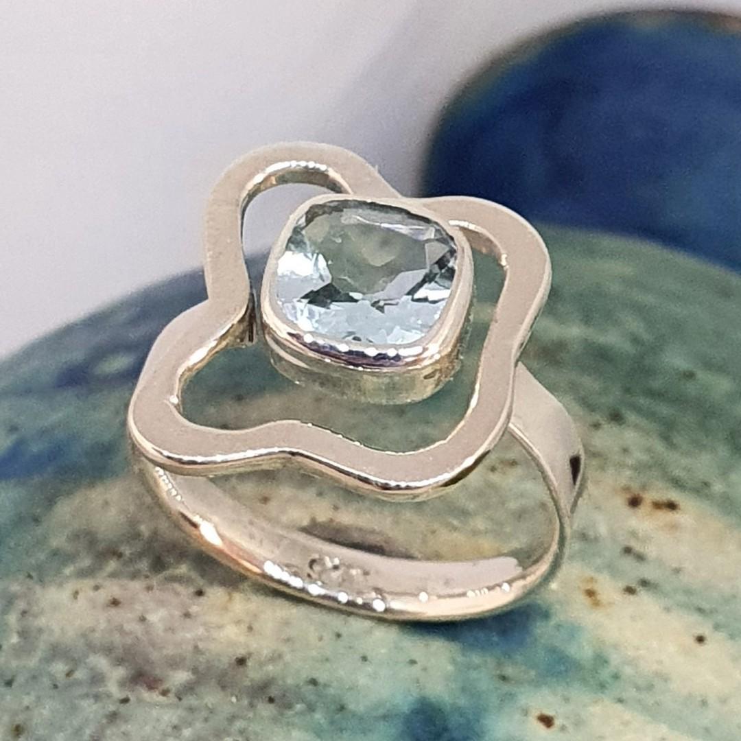 Sterling silver blue topaz ring - last 2 in stock image 4