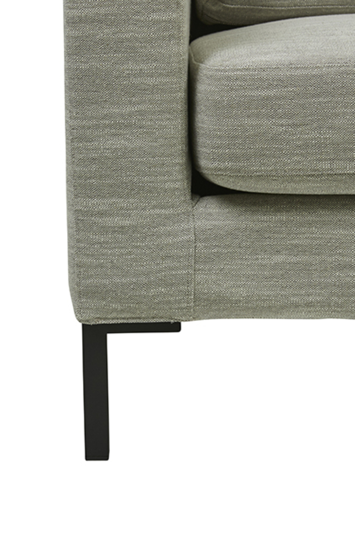 Juno 3 Seater Sofa with Black Powder Coated Legs image 3