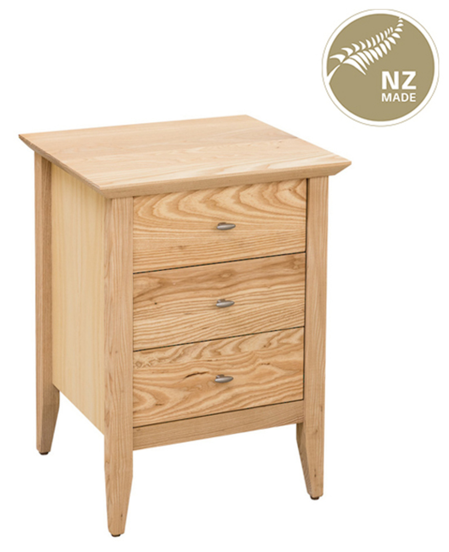 Aria 3 Drawer Narrow Bedside 500mmWide image 0