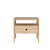 Click to swap image: <strong>Ethnicraft Spindle Bedside-Oak - RRP-$POA</strong></br>Dimensions: W550 x D350 x H520mm</br>Shipped: K/D - Requires Assembly on site - 0.14m3</br>Case Colour - Natural</br>Case Material - Oak</br>Drawer Configuration - 1 Drawer</br>Top Material - Smokey Glass