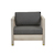 Click to swap image: <strong>Marina Cube SofaCh-DkGrey/Aged - RRP-$</strong></br>Dimensions: W830 x D810 x H660mm</br>Shipped: K/D - Requires Assembly on site - 0.48m3</br>Cushion insert Material - Standard Foam (Polyester)</br>Frame Colour - Aged Teak</br>Frame Material - Solid Teak</br>Seat Height - 400mm (with cushion)</br>Upholstery Colour - Dark Grey</br>Upholstery Material - Sunproof