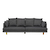 Click to swap image: <strong>Vittoria Iris 4 Str Sofa-Quarr - RRP-$5429</strong></br>Dimensions: W2450 x D970 x H740mm</br>Shipped: Assembled (K/D Legs) - 1.272m3</br>Cushion Construction - Sofa Cushion Profile - Medium</br>Filling Material - Foam & Feather</br>Leg Colour - Natural</br>Leg Material - Solid Ash</br>Upholstery Colour - Quarry Grey</br>Upholstery Configuration - Removable cover</br>Upholstery Material - Fabric (100% Polyester)
