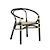 Click to swap image: <strong>Avery Maja Arm Ch-Bk/Natural - RRP-$777</strong></br>Product Finish - PU Coating</br>Seat Colour - Natural</br>Seat Material - Rattan weaving</br>Frame Colour - Black</br>Frame Finish - Painted with Natural webbing</br>Frame Material - Rattan</br>Seat Height - 460mm