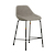 Click to swap image: <strong>Ronald Barstool -Cloudy Grey - RRP-$663</strong></br>Dimensions: W500 x D580 x H890mm</br>Shipped: K/D - Requires Assembly on site - 0.103m3</br>Barstool Stackable - No</br>Base Colour - Matt Black</br>Base Finish - Powdercoat</br>Base Material - Metal</br>Seat Height - 645mm</br>Upholstery Colour - Cloudy Grey</br>Upholstery Material - Fabric (100% Polyester)