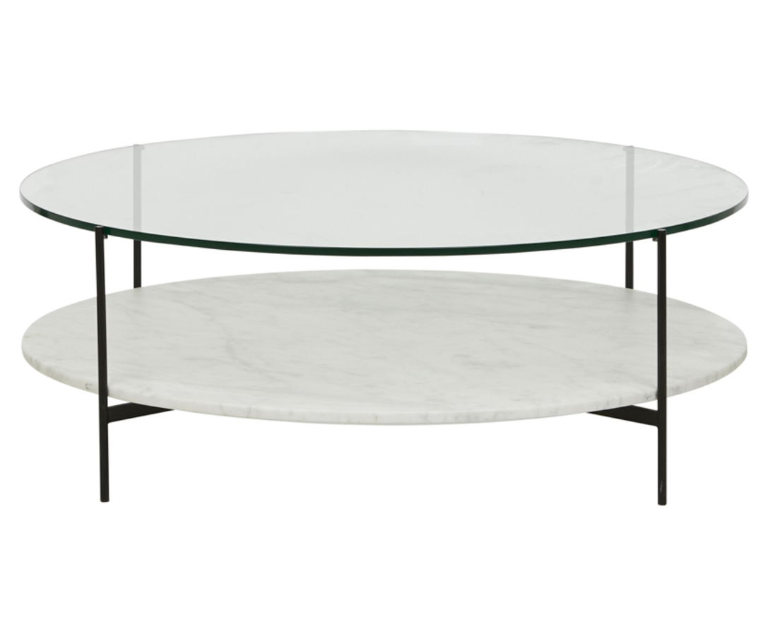 Clermont Layer Marble Coffee Table image 0
