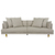 Click to swap image: <strong>Vittoria Iris 4 Str Sofa-Stone - RRP-$5265</strong></br>Upholstery Configuration - Removable cover</br>Cushion Construction - Sofa Cushion Profile - Medium</br>Leg Material - Solid Ash</br>Upholstery Material - Fabric (100% Polyester)</br>Filling Material - Foam & Feather</br>Upholstery Colour - Stone</br>Leg Colour - Natural