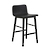 Click to swap image: <strong>Sketch Tami Barstool - Black Onyx - RRP-$POA</strong></br>Dimensions: W430 x D505 x H865mm</br>Shipped: Assembled - 0.234m3</br>Leg Colour - Black Onyx</br>Leg Material - Solid Oak</br>Seat Height - 660mm</br>Seat & Back Colour - Black</br>Seat & Back Material - Plywood Shell