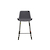 Click to swap image: <strong>Cleo Sleigh Barstool-Gunmetal - RRP-$582</strong></br>Dimensions: W490 x D530 x H900mm</br>Shipped: K/D - Requires Assembly on site - 0.101m3</br>Base Finish - Matt Black Powder Coated</br>Base Material - Metal</br>Chair Stackable - No</br>Crossbar Height - 230mm</br>Seat Configuration - 650mm Seat Height</br>Upholstery Colour - Gunmetal</br>Upholstery Material - Fabric (100% Polyester)