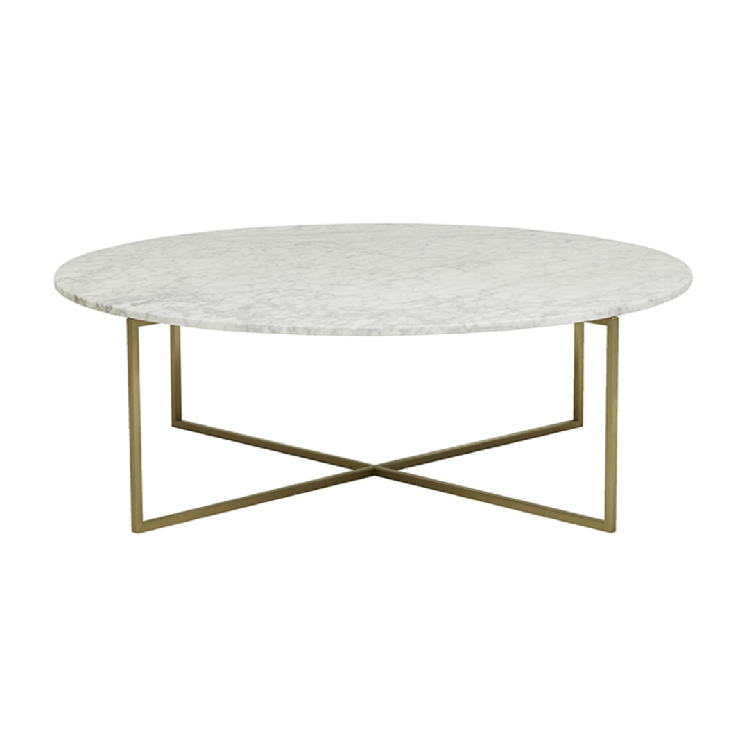 Elle Luxe Marble Round Coffee Tables image 6