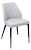 Click to swap image: <strong>Brooklyn - Dining Chair - Pewter - RRP $396</strong></br>Assembled to order -  5 weeks lead time</br>Dimensions: 485mm W x 585mm D x 825mm H - Seat height 480mm </br>Fabric Composition: 100% Polyester</br>Base finish: Black Powdercoated steel</br>Shipped: K/D - Base and seat - 0.2 m2  - Pieces : 2