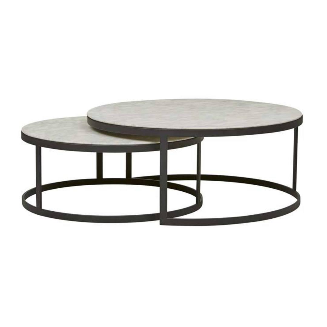 Elle Round Nest Flat Coffee Table image 0