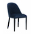 Click to swap image: <strong>Lucille Dining Chair-Navy Velv - RRP-$617</strong></br>Dimensions: W480 x D590 x H825mm</br>Shipped: Assembled - 0.213m3</br>Chair Max. Weight - 120kg</br>Chair Stackable - No</br>Frame Material - Metal</br>Frame Weight - 8kg</br>Seat Height - 490mm</br>Upholstery Colour - Navy Velvet</br>Upholstery Material - Fabric (100% Polyester)
