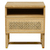 Click to swap image: <strong>Willow Woven Bedside-NaturalTk - RRP-$1227</strong></br>Dimensions: W500 x D450 x H550mm</br>Shipped: Assembled - 0.139m3</br>Case Colour - Ebony</br>Case Material - Teak</br>Drawer Configuration - 1</br>Drawer Internal Dimensions - W400 x D360 x H150mm</br>Drawer Material - Rattan</br>Open Compartment Internal Dimensions - W460 x D425 x H100mm