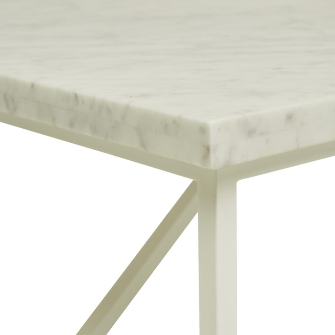 Elle Trestle Marble Coffee Table image 1
