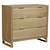 Click to swap image: <strong>Viva Dresser-Natural Ash - RRP-$2806</strong></br>Dimensions: W1000 x D450 x H900mm</br>Shipped: Assembled - 0.46m3</br>Case Colour - Natural</br>Case Material - Ash Veneer</br>Drawer Configuration - 3</br>Drawer Internal Dimensions - W880 x D340 x H145mm</br>Leg Height - 120mm</br>Leg Material - Solid Ash