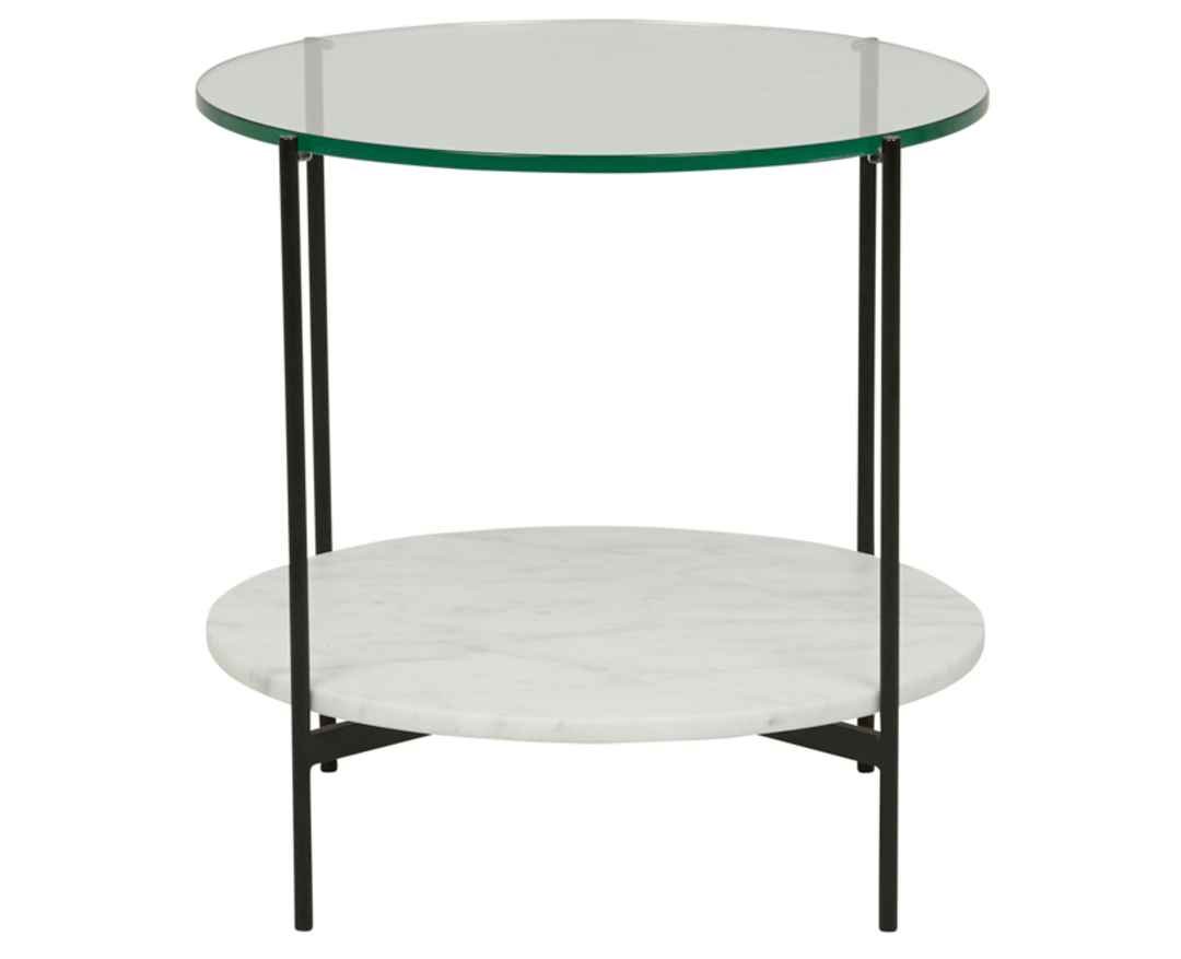 Clermont Layer Marble Side Table image 0