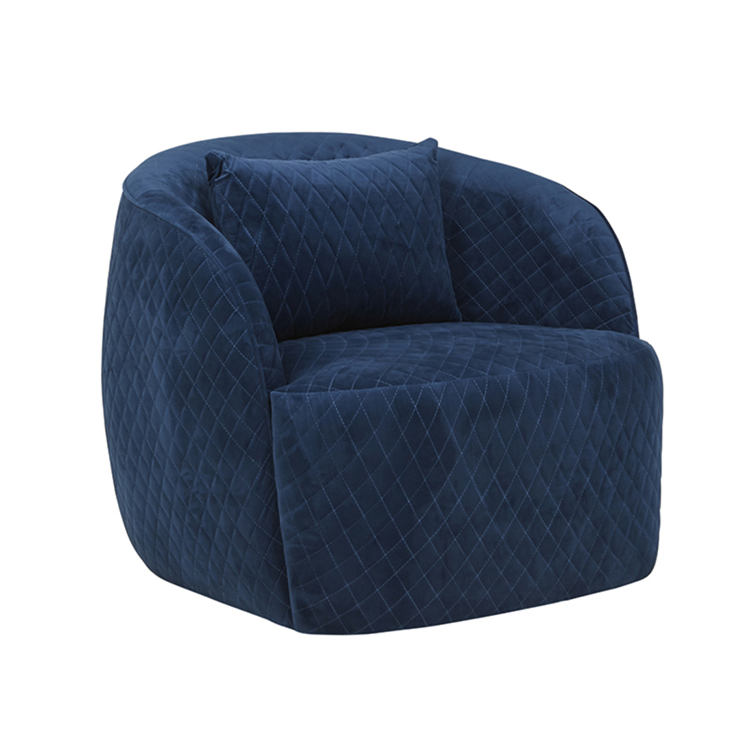 Penelope Quilted Swivel Occasional Chair image 13