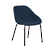 Click to swap image: <strong>Ronald Dining Ch-Dark Blue - RRP-$682</strong></br>Seat Height - 460mm</br>Arm Height - 635mm</br>Leg Finish - Powdercoat</br>Leg Material - Metal</br>Leg Colour - Matt Black</br>Upholstery Material - Fabric (100% Polyester)</br>Upholstery Colour - Dark Blue