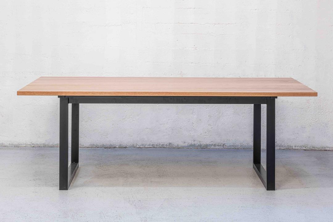 Thorndon Square Base 2400mm Table & Barleaner image 1