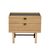 Click to swap image: <strong>Boston Bedside-Natural Ash/Bk - RRP-$1699</strong></br>Dimensions: W610 x D430 x H440mm</br>Shipped: Assembled - 0.201m3</br>Base Colour - Natural Ash & Black</br>Base Material - Solid Ash with Metal Support Bar</br>Case Colour - Natural</br>Case Material - Ash Veneer</br>Drawer Configuration - 2</br>Handle Colour - Black</br>Handle Finish - Powdercoated</br>Handle Material - Metal</br>Top Colour - Black</br>Top Material - Formica (Laminated composite)