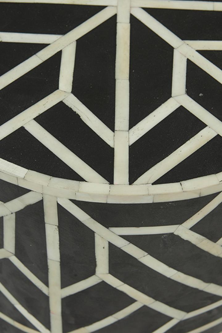 Taj Bone Inlay Geometric Side Table image 1
