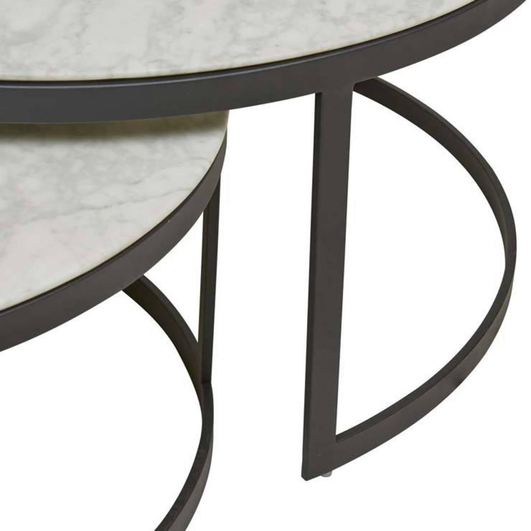 Elle Round Nest Flat Coffee Table image 2