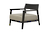 Click to swap image: <strong>Axiom Lounge Chair - Fabric Seat - RRP-$1504</strong></br>Dimensions: W710 x D765 x H660mm</br>Shipped: Assembled - 0.425m3</br> Chair Max. Weight - 120kg</br>Frame Colour - Dark Wenge</br>Frame Material - Oak Veneer</br>
