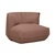 Click to swap image: <strong>Sinclair Sofa Chair - Salmon - RRP-$2191</strong></br>Dimensions: W880 x D950 x H800mm</br>Shipped: Assembled - 0.82m3</br>Cushion Construction - Sofa Cushion Profile - Soft</br>Filling Material - Feather & Foam Filling</br>Frame Material - Solid Wood</br>Seat Height - 390mm</br>Upholstery Colour - Salmon</br>Upholstery Composition - Fabric (100% Polyester)