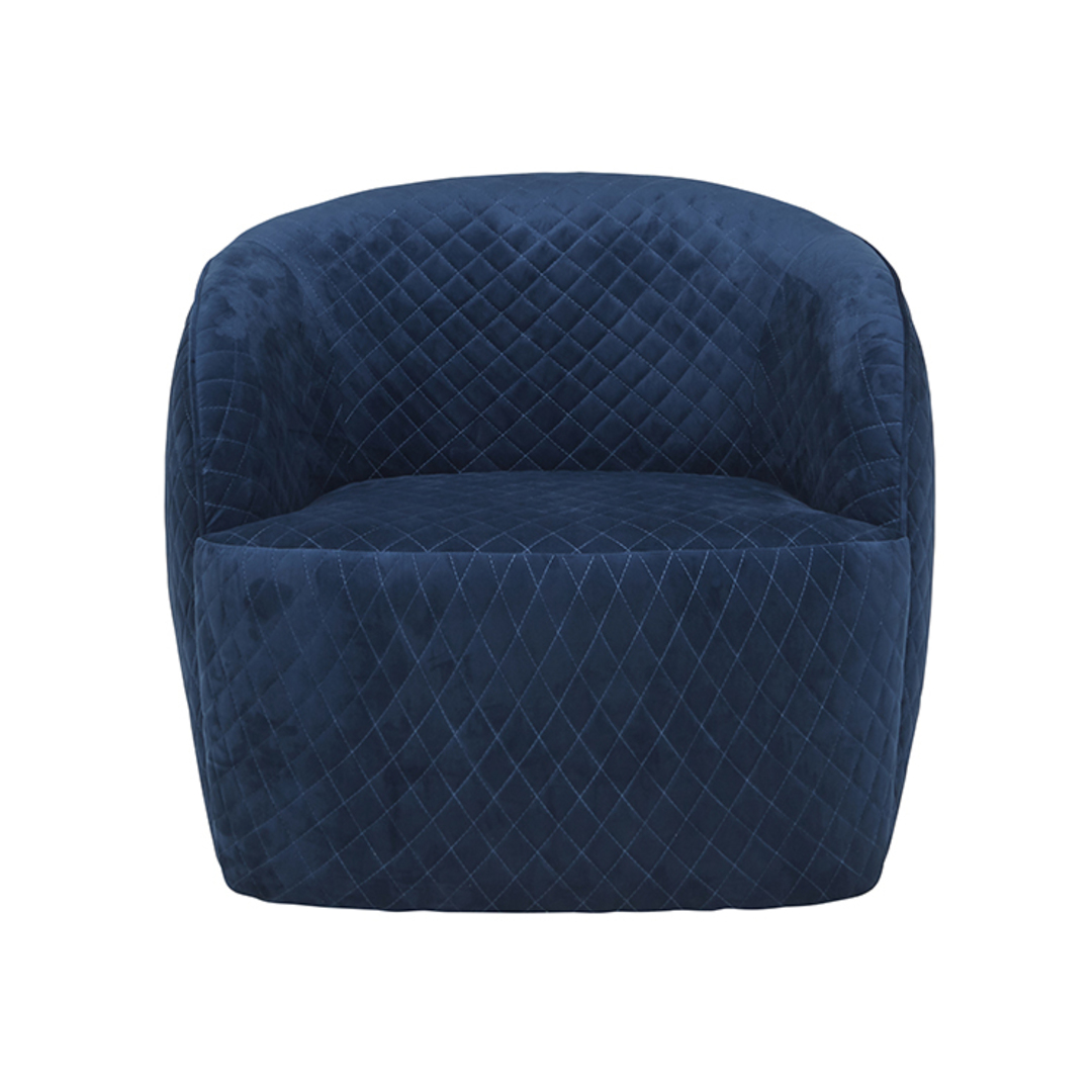 Penelope Quilted Swivel Occasional Chair image 8