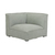 Click to swap image: <strong>Cove Loft 1S Cnr -Sage Linen - RRP-$2916</strong></br>Dimensions: W1020 x D1020 xH790mm</br>Shipped: Assembled - 0.912m3</br>Additional Dimensions Arm Height - 790mm</br>Additional Dimensions Leg Height - 50mm</br>Product Item Weight - 36kg</br>Product Max. Weight - 100kg</br>Product Assembly State - Assembled</br>Upholstery Colour - Sage Linen</br>Upholstery Composition - 100% Linen</br>Upholstery Removable Covers - Yes