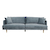 Click to swap image: <strong>Vittoria Mia 4Str - Blue Green - RRP-$5482</strong></br>Upholstery Construction - Upholstery Removable Cover</br>Cushion Construction - Sofa Cushion Profile - Medium</br>Seat Height - 430mm</br>Arm Height - 670mm</br>Upholstery Material - Fabric (100% Polyester)</br>Upholstery Finish - Velvet</br>Filling Material - Foam & Feather</br>Leg Colour - Natural</br>Leg Material - Solid Ash</br>Upholstery Colour - Blue Green
