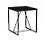 Click to swap image: <strong>Bailey Side Table-Black Ok/Blk - RRP-$881</strong></br>Dimensions: W500 x D500 x H560mm</br>Shipped: Assembled - 0.154m3</br>  -