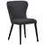 Click to swap image: <strong>Eloise Dining Chair - Soot - RRP-$626</strong></br>Chair Stackable - No</br>Seat Height - 480mm</br>Upholstery Material - Fabric (100% Polyester)</br>Chair Max. Weight - 120kg</br>Upholstery Colour - Soot