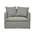 Click to swap image: <strong>Vittoria Slipcover 1Str-Wsmoke - RRP-$3020</strong></br>Dimensions: W1100 x D870 x H780mm</br>Shipped: Assembled - 0.86m3</br>Cushion Construction - Sofa Cushion Profile - Soft</br>Filling Material - Foam & Feathers</br>Upholstery Colour - Washed Smoke</br>Upholstery Configuration - Removable Slip cover</br>Upholstery Material - Fabric (100% Linen)