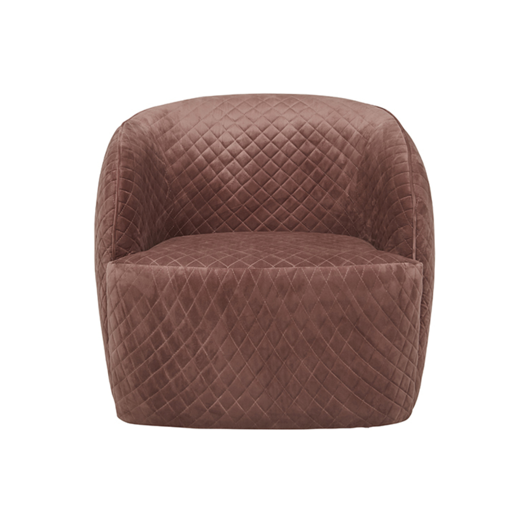 Penelope Quilted Swivel Occasional Chair image 2